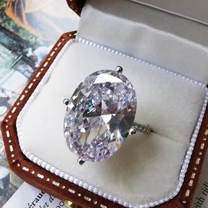 5ct Oval Radiant Cut Ring